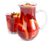 Fruit drink in jug — Stock Photo