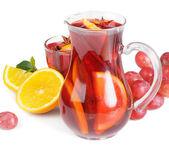 Fruit drink in jug — Stock Photo