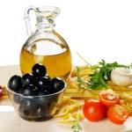 Постер, плакат: Italian cuisine pasta and olive oil