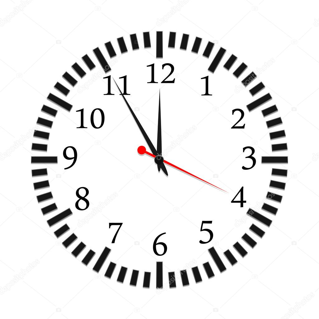 Vector illustration of a clock — Stock Vector #8279645