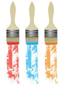 Pintar brocha — Vector de stock