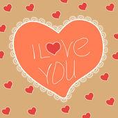 Vintage Valentine heart — Stock Vector