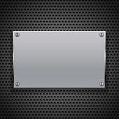 Metallic plaque for signage — Stock vektor