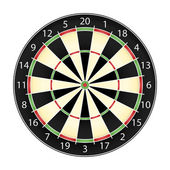 Dart board — Vector de stock