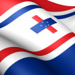 Governor of the Netherlands Antilles Flag - Stock Photo