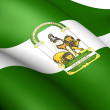 Flag of Andalusia, Spain. - Stock Photo