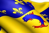 Flag of Dauphine, France. — 图库照片