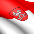 Stock Photo: Flag of Regensburg, Germany.