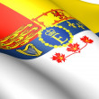 Royal Standard of Canada - Stock Photo