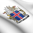 Iceland Coat of Arms — Stock Photo