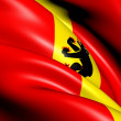 Stock Photo: Flag of Bern Canton, Switzerland.