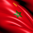 Civil Ensign of Morocco — Stock Photo #10602842