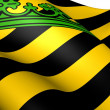 Stock Photo: Kingdom of Saxony Flag