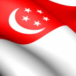 Flag of Singapore - Stock Photo