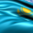 Flag of Kazakhstan — Stock Photo