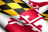 Flag of Maryland, USA. — Stock Photo