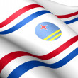 Governor of Aruba Flag - Stock Photo
