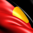 Stock Photo: Australian Aboriginal Flag