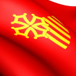 Flag of Languedoc-Roussillon, France. - Stock Photo