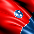 Stock Photo: Flag of Tennessee, USA.