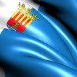 Flag of Alicante Province, Spain. - Stock Photo