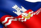 Flag of Belgrade, Serbia. — Stock Photo