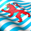 Civil Ensign of Luxembourg — Stock Photo