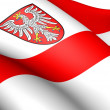 Stock Photo: Frankfurt am Main Flag, Germany.