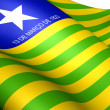 Stock Photo: Flag of Piaui, Brazil.