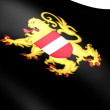 Flag of Flemish Brabant, Belgium. — Stock Photo
