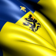 Flemish Community Commission Flag - Stock Photo