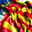 Flag of Valencian Community, Spain. - Stock Photo