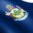Flag of Maine, USA. — Stock Photo