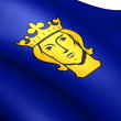 Flag of Stockholm, Sweden. - Stock Photo