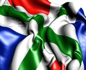 Flag of Groningen, Netherlands. — Stock Photo