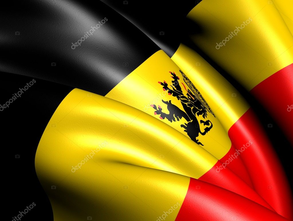 Government Ensign of Belgium. Close Up. — Stock Photo #8956120