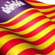 Royalty-Free Stock Photo: Balearic Islands Flag, Spain.