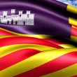 Balearic Islands Flag, Spain. — Stock Photo