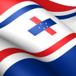 Governor of Netherlands Antilles Flag — Stock Photo #9119898