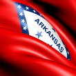Stock Photo: Flag of Arkansas, USA.