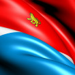 Flag of Primorsky Krai, Russia. - Stock Photo