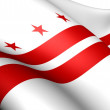 Flag of Washington, D.C. — Stock Photo