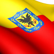 Flag of Bogota, Colombia. - Stock Photo