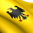 Holy Roman Emperor Banner(Before 1400) - Stock Photo