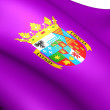 Flag of Palencia Province, Spain. — Stock Photo