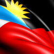 Stock Photo: Flag of Antiguand Barbuda