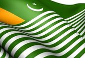 Azad Jammu and Kashmir Flag — Stock Photo