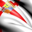 Flag of Zaragoza Province, Spain. - Stock Photo