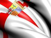Flag of Zaragoza Province, Spain. — Stock Photo