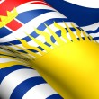 Flag of British Columbia, Canada. — Stock Photo #9569963